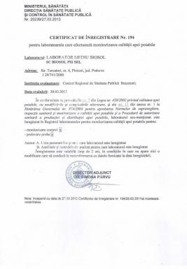 2 - Inregistrare Ministerul Sanatatii